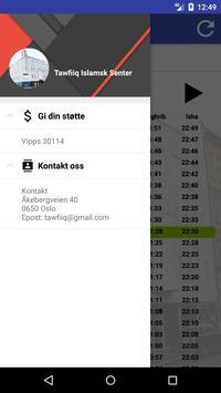 Tawfiiq bønnetider Oslo screenshot 3