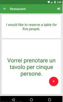 Italian Travel Phrases apk screenshot