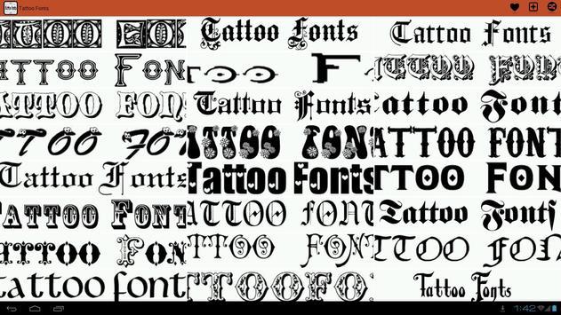 Tattoo fonts ideas apk download free lifestyle app for android tattoo fonts ideas apk screenshot publicscrutiny Choice Image