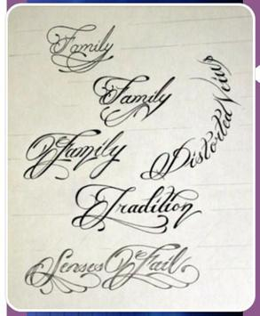 Tattoo Writing Styles Apk Screenshot
