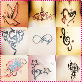 Lovely Tattoos on Photo icon