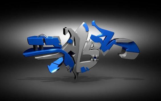 3D Graffity Design poster