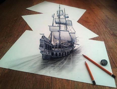 3D Pencil Drawing poster