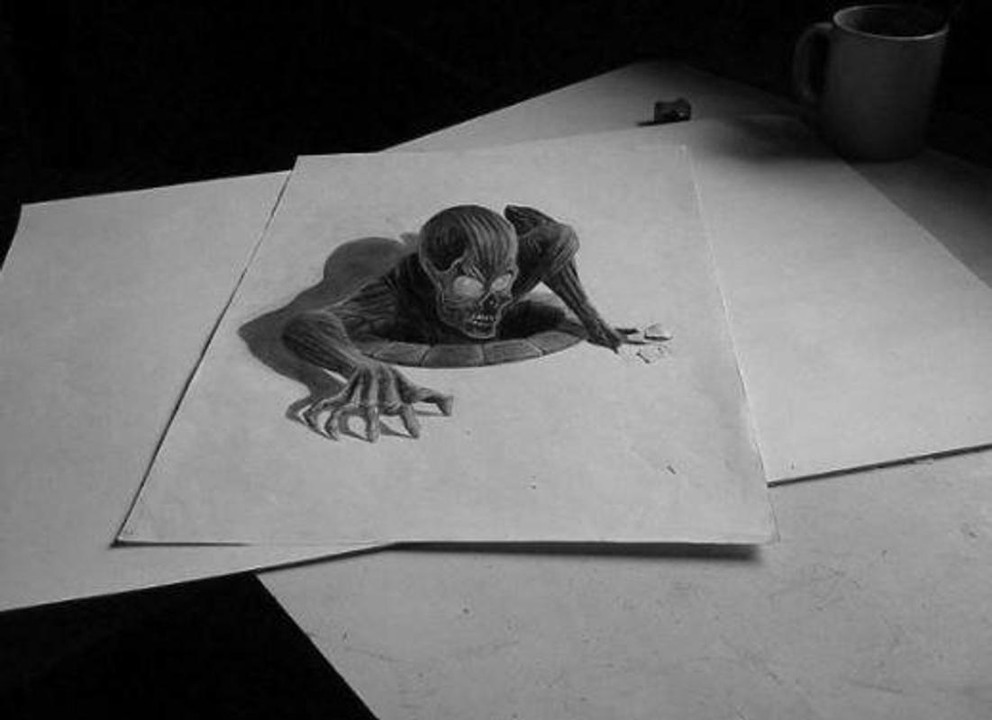 3d pencil drawing poster 3d pencil drawing screenshot 1