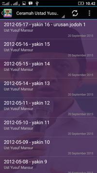 Ceramah Terbaru Yusuf Mansyur apk screenshot