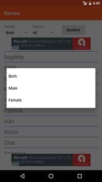 Names screenshot 2