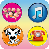 Phone game for kids icon
