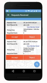 WeRide - Car Ride Sharing & Inter State Travel App screenshot 2