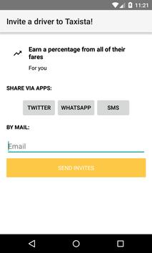 TAXISTA Passenger apk screenshot