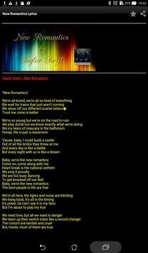 New Romantics Lyrics screenshot 2