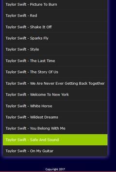 Taylor Swift Best Songs screenshot 1