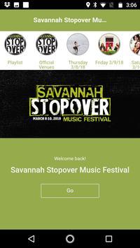 Savannah Stopover Music Fest poster
