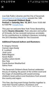 Savannah Children's Book Fest apk screenshot