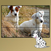 dog puzzles for kids icon