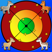 horses and darts for children icon