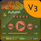 Autumn Music Player Skin icon