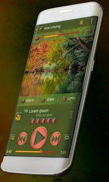 Autumn Music Player Skin poster
