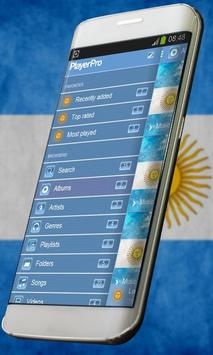 Argentina Music Player Skin apk screenshot