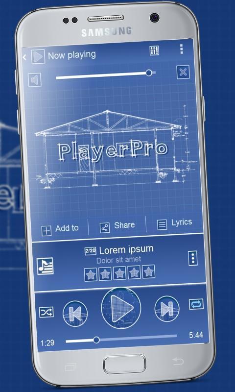 Blueprint playerpro theme apk download free personalization app blueprint playerpro theme poster malvernweather Images