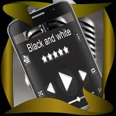 Black and white Music Theme icon
