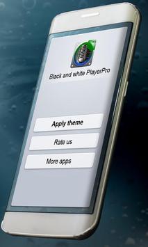 Black and white Music Theme apk screenshot