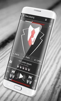 Black suit PlayerPro Skin poster