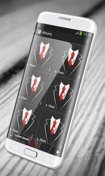 Black suit PlayerPro Skin apk screenshot