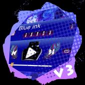 Blue ink PlayerPro Skin icon