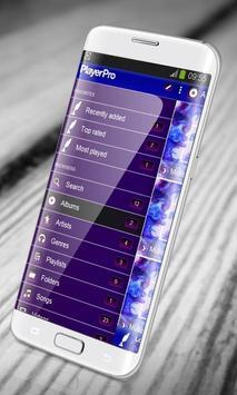 Blue ink PlayerPro Skin apk screenshot