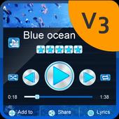 Blue ocean Music Theme icon
