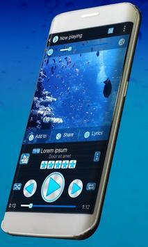 Blue ocean Music Theme apk screenshot