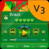 Brazil Music Player Skin icon