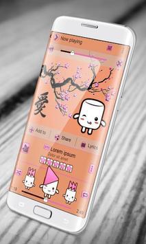 Cute anime PlayerPro Skin apk screenshot