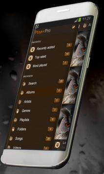 Cute owl PlayerPro Skin apk screenshot