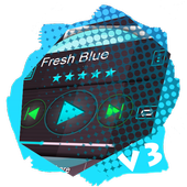Fresh Blue PlayerPro Skin icon
