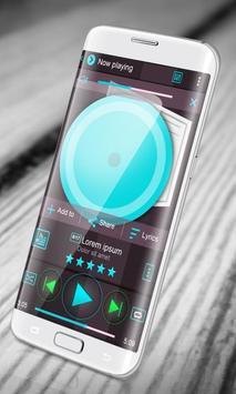 Fresh Blue PlayerPro Skin apk screenshot