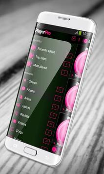 Fresh Pink PlayerPro Skin apk screenshot