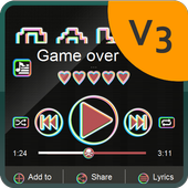 Game over Music Player Skin icon