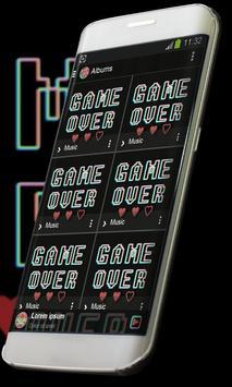 Game over Music Player Skin apk screenshot
