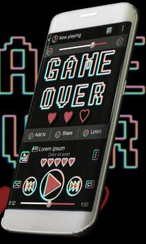 Game over Music Player Skin poster