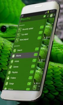 Green snake PlayerPro Skin screenshot 1