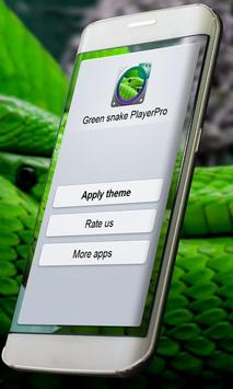 Green snake PlayerPro Skin screenshot 4