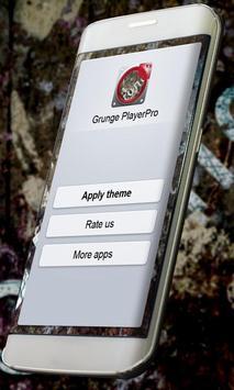 Grunge PlayerPro Skin apk screenshot