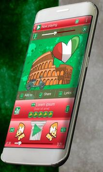 Italy Music Player Skin poster