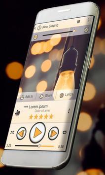 Lights Music Player Skin apk screenshot