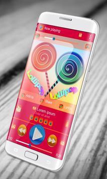 Lollipop PlayerPro Skin screenshot 4
