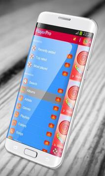 Lollipop PlayerPro Skin screenshot 1