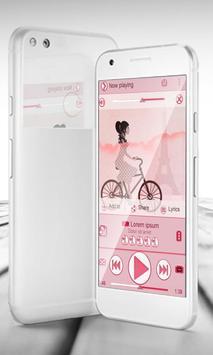 Paris PlayerPro Skin apk screenshot