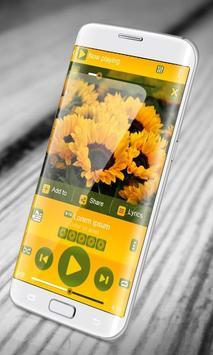 Sunflower PlayerPro Skin poster
