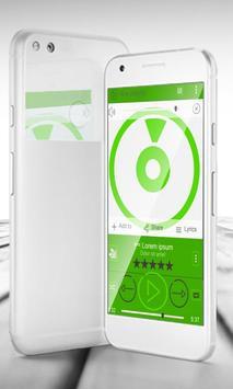 Simple Green PlayerPro Skin apk screenshot